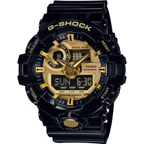 CASIO G-SHOCK GA-710GB-1AER Rannekello Miehet, black/black/gold